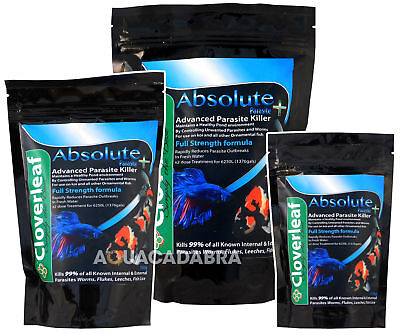 Cloverleaf Absolute Parasite Killer-For Ponds & Freshwatrer Aquariums Koi Pond