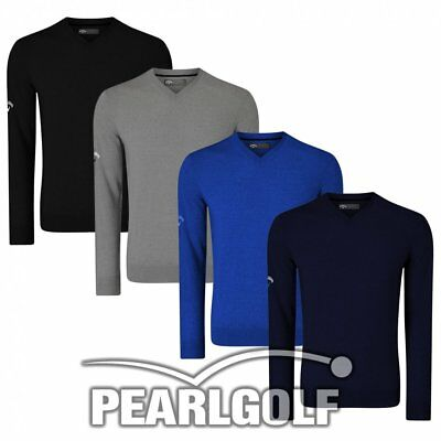 Callaway Golf Ribbed V-Neck Merino Pullover - Modell 2018 - Sweater - Neu