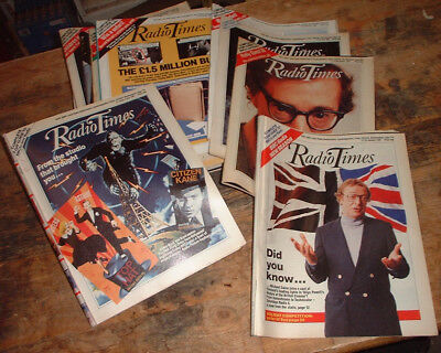 East 1987 RADIO TIMES 25 x magazine different ISSUES