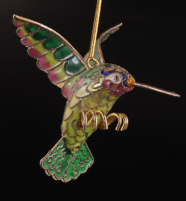 Cloisonne Statue Hummingbird Pendant Old Handmade Collectable