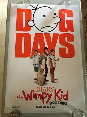 Diary Of A Wimpy Kid Dog Days - Original Double Sided 27x40 Theater Movie Poster