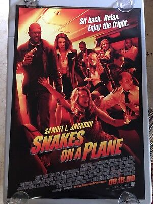 Snakes On A Plane - Original Double Sided 27x40 Theater Movie Poster