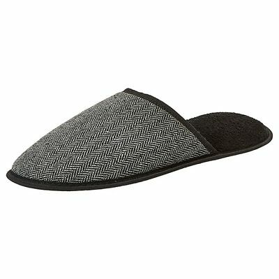 NEW Herringbone Slippers - Black