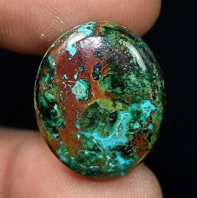 21.40 Cts. 100% Natural Chrysocolla Oval Cab Loose Gemstones Titanium_Gems