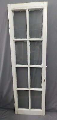 Antique 8 Lite Casement French Door Window Cabinet Chic Vtg Shabby 64x19 469-17P