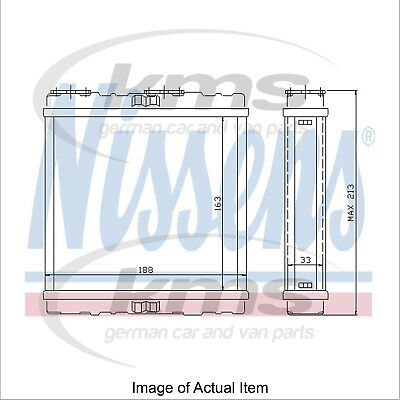 New Genuine NISSENS Heater Radiator Matrix 73379 Top Quality