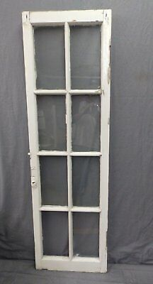 Antique 8 Lite Casement French Door Window Cabinet Chic Vtg Shabby 64x19 470-17P