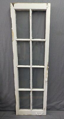 Antique 8 Lite Casement French Door Window Cabinet Chic Vtg Shabby 64x19 471-17P