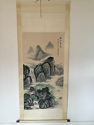 Chinese hand Painted Hanging Scroll painting Signed