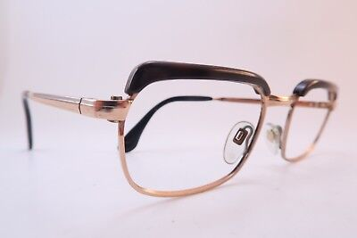 Vintage 60s eyeglasses frames gold filled acetate brows OPTIMA 50-18 Germany