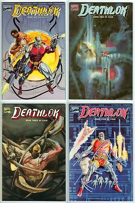 DEATHLOK #1-#4 Complete Set! All Four 1990 Graphic Novels! First Printings!