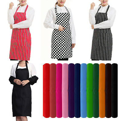 Plain Apron + Pocket for Chefs Butcher BBQ Kitchen Cooking Craft Baking Catering