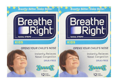 24 BREATHE RIGHT Nasal Strips for Kids Children Child Size Nose Band Breath Rite