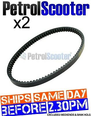 2 x DRIVE BELT 729 17.7 30 Or  729-17.5-30 Pulse Zoom 50 HT50 QT-7 Kymco Agility