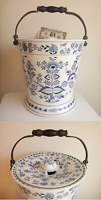 19thC MEISSEN German Porcelain Blue Onion Slop-Milk/Champagne/Ice Pail/Bucket