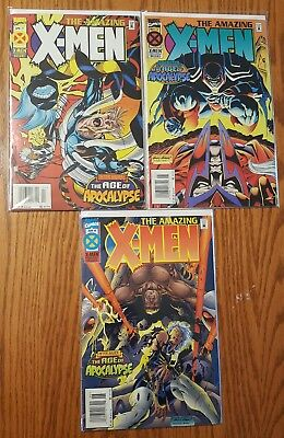 Amazing X-Men #2-4 (Lot of 3)(Apr-Jun 1995, Marvel)(VF/NM)