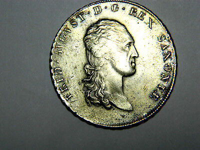 Germany, Saxony, thaler, 1808, good looking with light toning. This is exonumia
