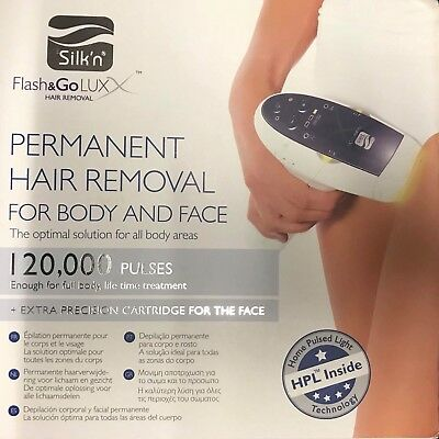 Silk'n Flash&Go Lux X HPL 120,000 Pulses Hair Removal device + extra cartridge!