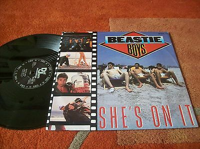 "BEASTIE BOYS - she`s on it 12"" single 1985 u.k... A1/B1"
