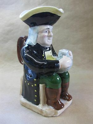 Large Vintage / Antique Toby Jug ~ Seated Gentleman ~ Unmarked ~ 26 cm Tall