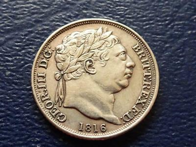 George Iii Sterling Silver Sixpence 1816 Great Britain Uk
