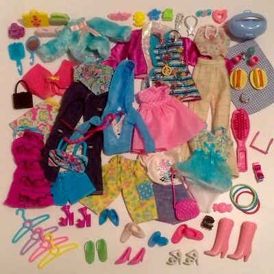 Barbie Doll Clothes Fashion Outfits Shoes Bags Matching Accessories Picnic Lot
