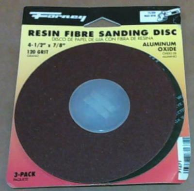 """NEW Forney 71671 Sanding Discs with 7/8"""" Arbor, 4-1/2"""", 120-Grit, 3-Pack"""