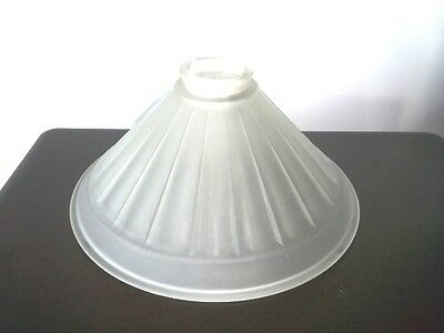Large Vintage Frosted Glass Globe for Tole or Antique Lamp
