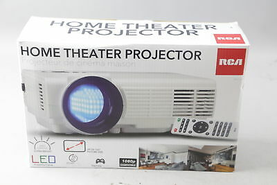 New Rca Home Theater Projector 1080P Rpj116 White