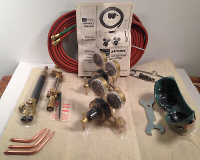Sears Craftsman 2 Stage Oxy - Acetylene Welding And Cutting Outfit 9 -5441 New