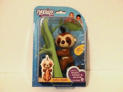 WowWee Fingerlings Interactive Baby Sloth Toy Kingsley Brown Smyths Hot Toy