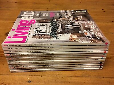 Livingetc magazines - 2015 all 12 issues - The Homes Magazine for Modern Living