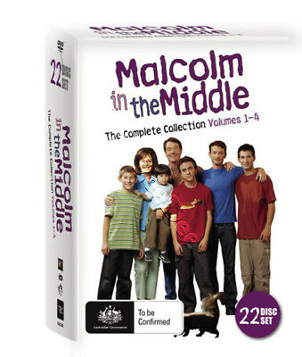 Malcolm in the Middle - Complete Collection Vol. 1-4 NEW PAL Series 22-DVD Set