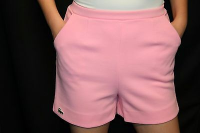 S~M Pink Knit VTG 70s Haymaker Izod Lacoste Alligator Logo Golf Shorts Pants
