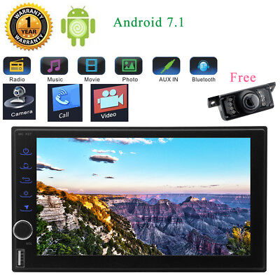 """New Car Radio Android 7.1 Stereo GPS Bluetooth 7"""" Touchscreen No-DVD FM/AM/RDS"""