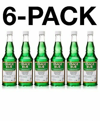 Clubman Osage Rub Invigorating Splash for Head & Face Facial Astringents (6PACK)