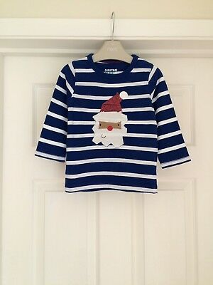 Lovely Boys Christmas Themed Top Age 12-18 Months From Next In Good Condition