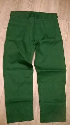 mens green work hospital vet ambulance NHS NEW trousers, smart sewn in crease.