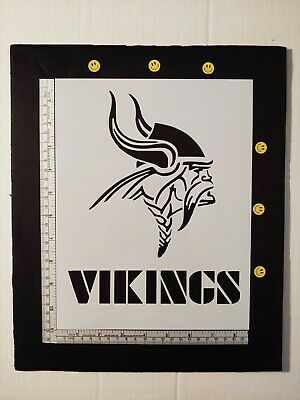 "Minnesota Vikings Football 8.5"" x 11"" Custom Stencil FAST FREE SHIPPING"