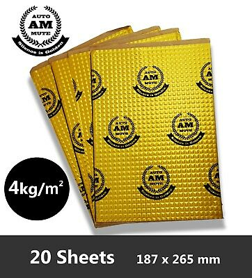 AutoMute 2mm Car Van Sound Deadening Proofing Damping Mat - 20 Sheets