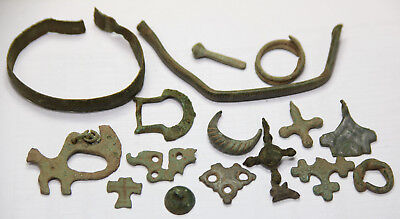 Ancient Viking Bronze AMULET parts zoomorphic pendants