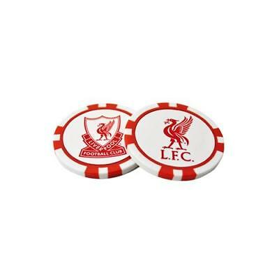 Liverpool Poker Chip Ball Markers 2 Pack New Official Licensed Football Product
