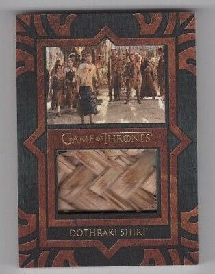 2017 Game of Thrones Valyrian Steel Relic Costume Card VP1 Dothraki Shirt