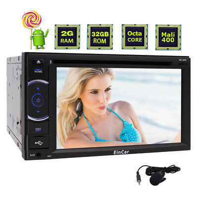 """Android Multimedia Player Car Radio 2 Din Stereo GPS 6.2"""" Bluetooth Camera SWC"""