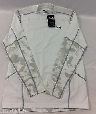 Under Armour MEN'S Athletic Long Sleeve Shirt Fitted Cold Gear White NWOT M