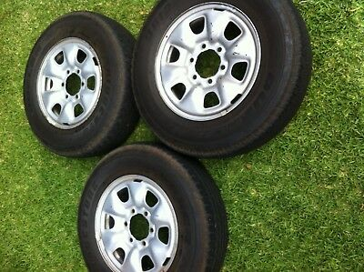 """Toyota Hilux SR 4x4 Genuine 16"""" Steel Wheels and Tyres x 3"""