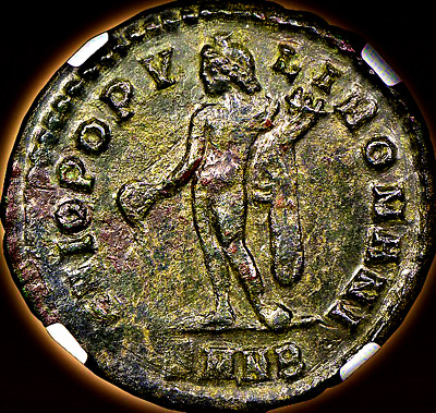 Constantius I Bi Nummus. NGC Authenticated. Graded XF.