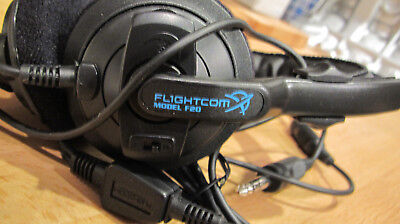 Flightcom F20 Aviation Headset NOISE CANCELING Lightweight Performance