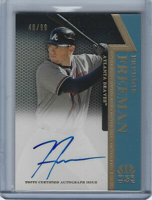 2011 Topps Tier One 1 Freddie Freeman On The Rise On Card Auto #/99