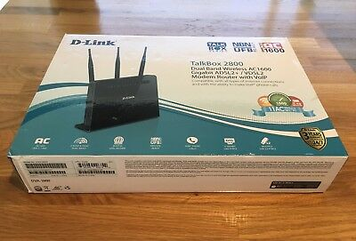 D-Link DVA-2800 Dual Band Wireless AC1600 ADSL2+/VDSL2 Modem Router with VoIP